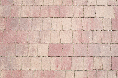 Light red ceramic tiles on the floor closeup  Reklamní fotografie