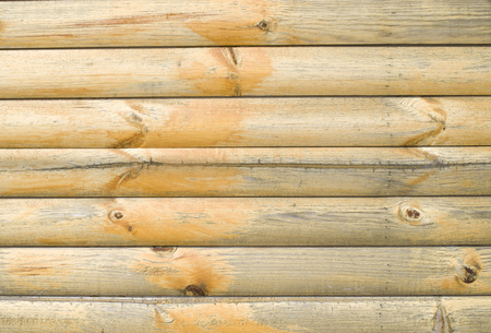 Old varnished wooden wall closeup