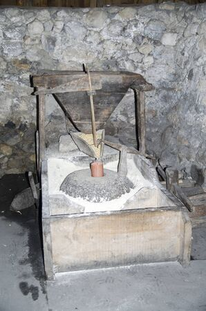 An old working mill of grinding corn in Theth, Albania, Europe