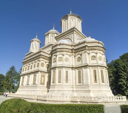 Cathedral of Curtea de Arges Monastery in Romania, Europe