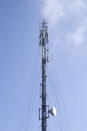 GSM antenna in blue sky