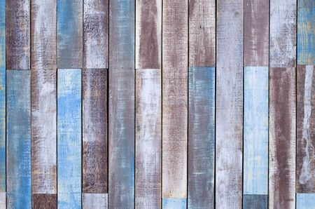 Colorful new wooden wall closeup
