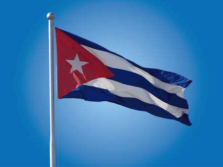 キューバの国旗  イラスト・ベクター素材