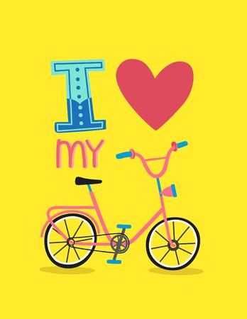 I love my bike vector