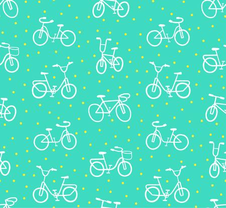 Vintage Bikes Pattern Ilustração