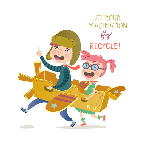 Let your imagination fly. Recycle