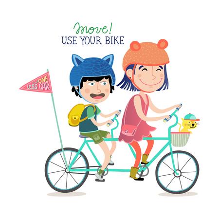 Move. Use your bike Ilustração