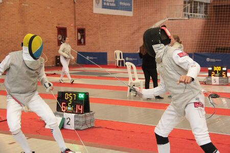 Fencing competition, foil modality