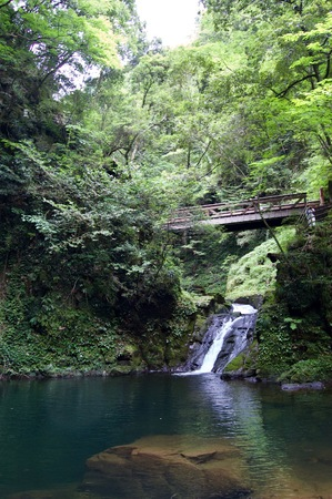 Akame 48 waterfalls: Mysterious hiking trails, giant trees & moss covered rock formations, untouched nature, lush vegetation, cascading waterfalls & natural pools in rural Japan close to Osaka