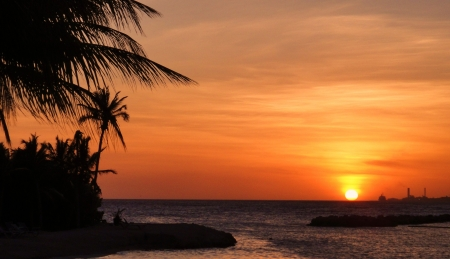 colorful caribbean sunset