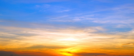 colorful scenic sunset sky