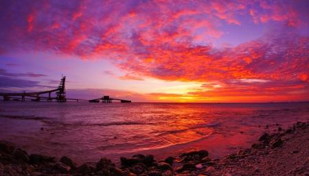 Dramatic scenic sunset