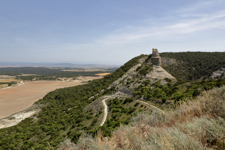 The remains of the Sora Castle in the Aragon region in Spain