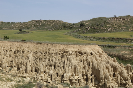 Aguarales, a kastic geological formation in the Aragon region in Spain