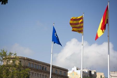separatism: flags Stock Photo