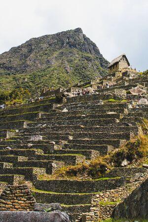 Ruins of Machu Picchu, the old incan city in Peru