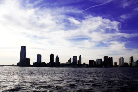 New Jersey seen from Battery Park in New York City Stock Photo