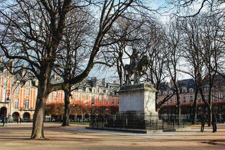 Vosges Square in the city of Paris, France 写真素材