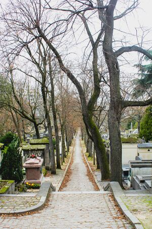 Old cemetery in the city of Paris, France