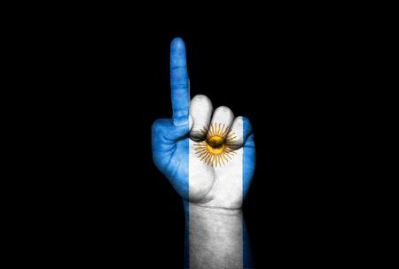 Mano Argentina                                Stock Photo