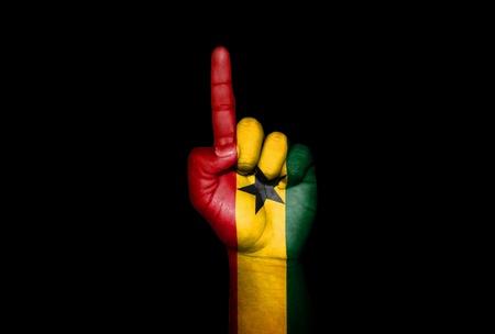 icono: Mano Ghana                        Stock Photo