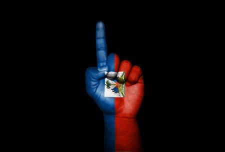 icono: Mano Haiti                        Stock Photo