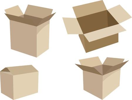 cajas y empaques para distribucion Illusztráció