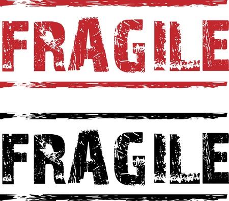 etiqueta: sello fragil Illustration