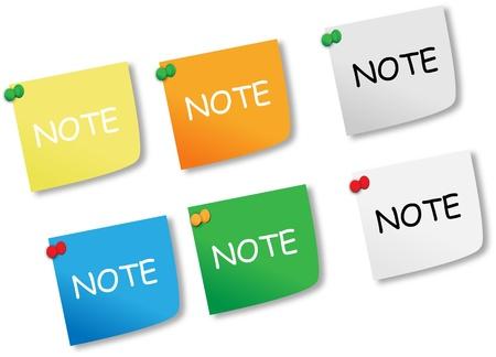 fondo azul: Notas adhesivas