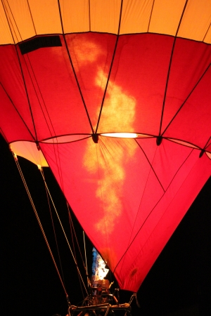 Hot air balloon before flying photo
