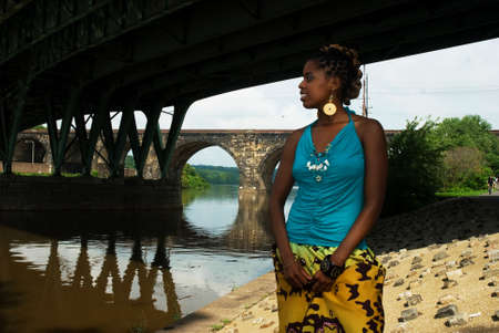 african american gazing