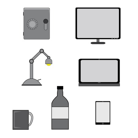 Illustration  vector  with some home objects  Vector
