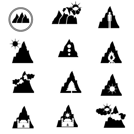Illustration  vector  with logo of mountain Vector