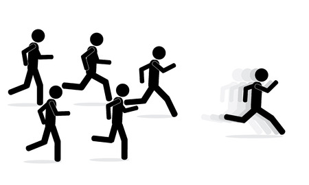 Illustration  vector  of men that are running