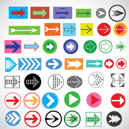 acute angle: Illustration  vector  with icons of arrows