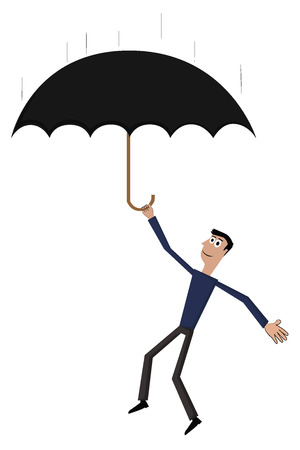 Man with umbrella Vector