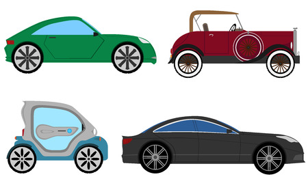 Four cars Ilustração