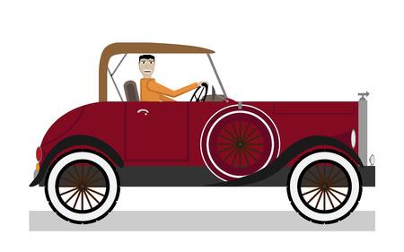 Man in car Vector