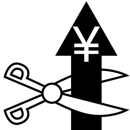 illustration  Cut the euro arrow Imagens - 29354029