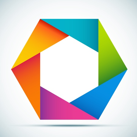 Vector illustration colorful abstract shape Vector