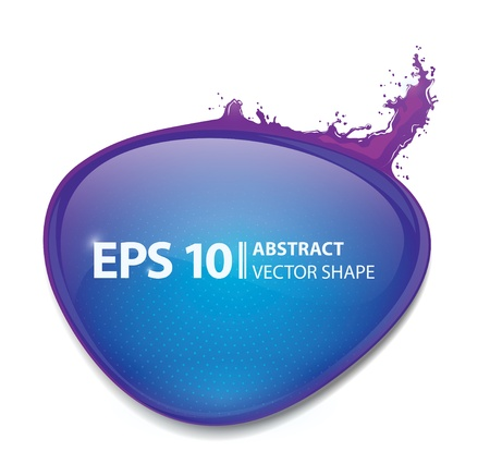 glass badge: vector sticker illustration� glass bubble with splash