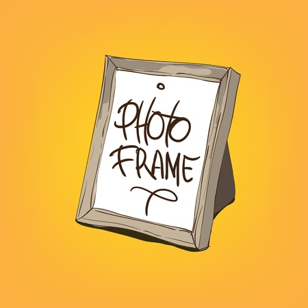 Blank picture frame vector illustration Vector