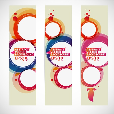 Abstract bubble banner vector illustration Vector