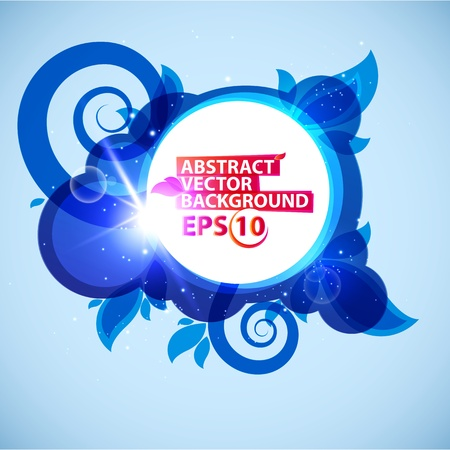 Abstract vector illustration bubble  background Vector