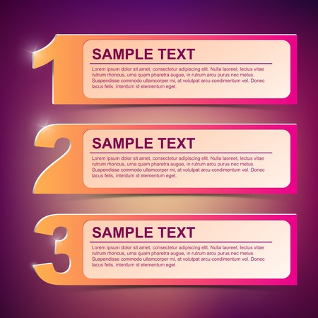 Abstract vector text frame illustration  background Vector