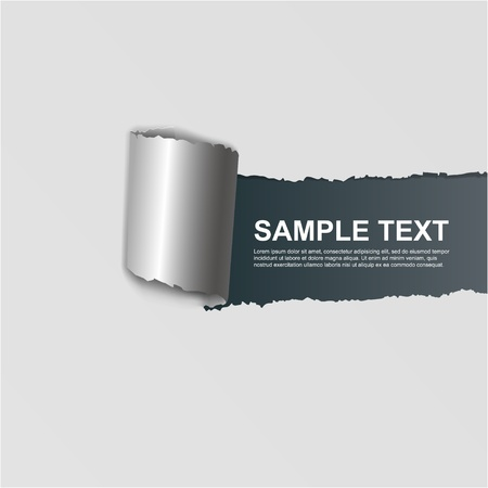 ripped white paper illustration on dark background Stock Vector - 13486063