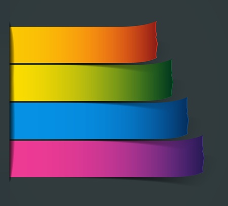 Set of Colorful  stickers for various options photo