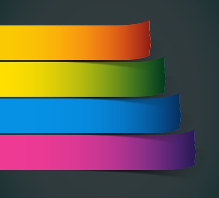 Set of Colorful  stickers for various options Vector