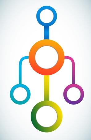 diagrama de flujo: C�rculo vac�o de color comercializaci�n diagrama de flujo de la ilustraci�n