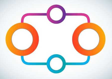 Empty color circle marketing flowchart illustration